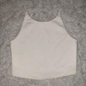 White Halter Crop Top Zara